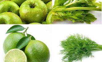 Фреш из огурцов и яблок с добавлением сельдерея