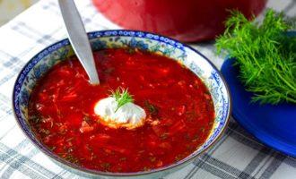 Груз витаминов – оригинальный вегетарианский борщ